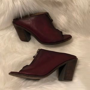 Frye Leather Mules Size 9